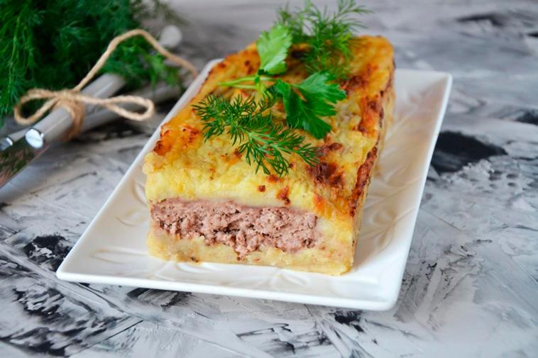 Картофельная запеканка с мясом в духовке